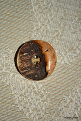 Deer Horn Button (One)