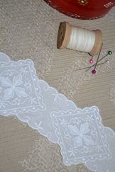 Intricate Embroidered Cotton Lace Trim