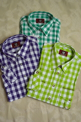Men's Trachten Shirt Large Check in Three Colours