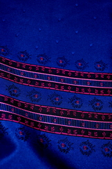 Fabric Panel for Dirndl Apron Blue and Fuchsia