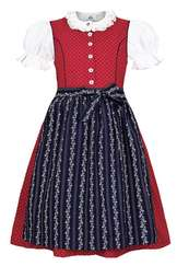 Girls Infant Dirndl Red with Navy