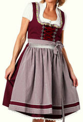 Dirndl Nelly by Marjo Deep Plum Cotton