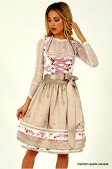 Dirndl Amica Cream and Rose by Kruger
