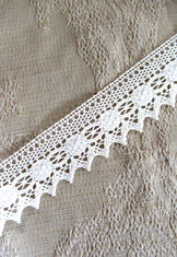 Ivory Cotton Bobbin Lace  4.5 meter length